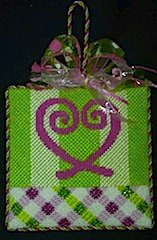Heart Lattice Needlepoint