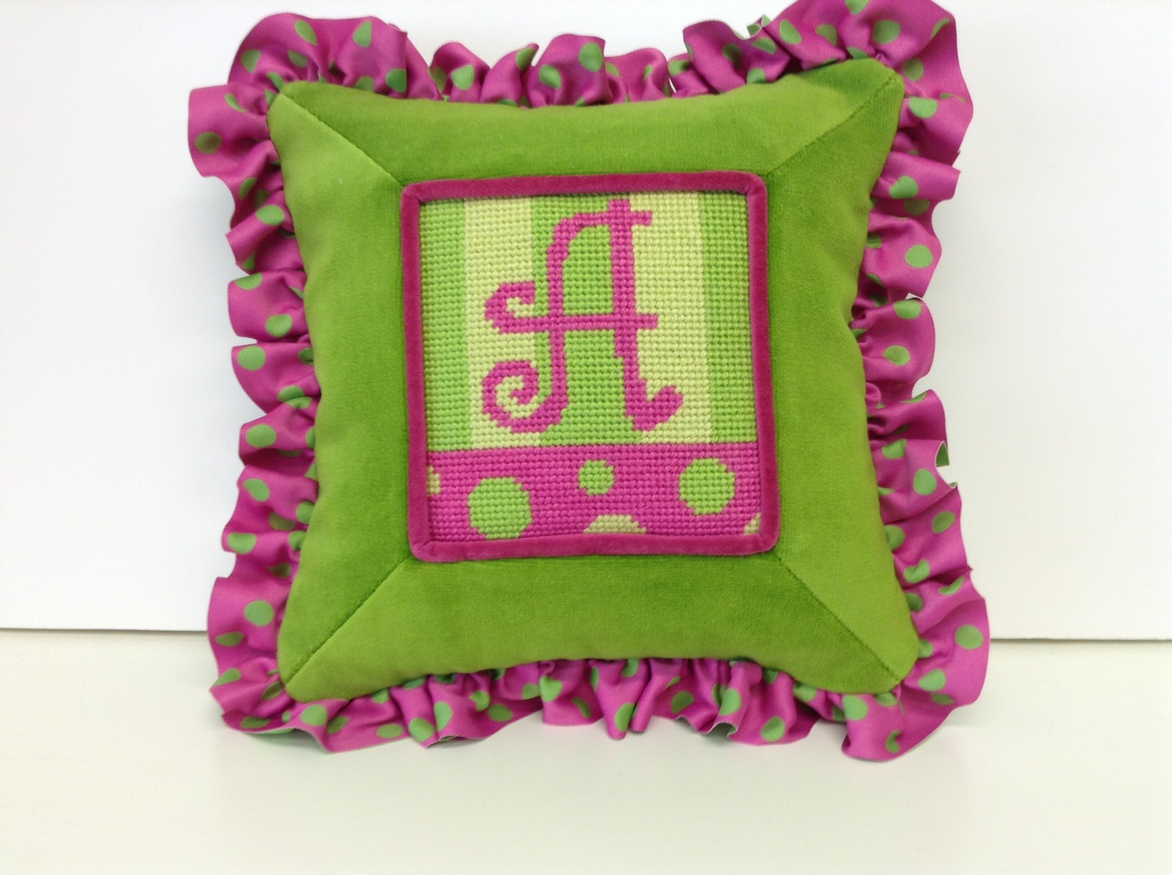 Needlepoint A monogram