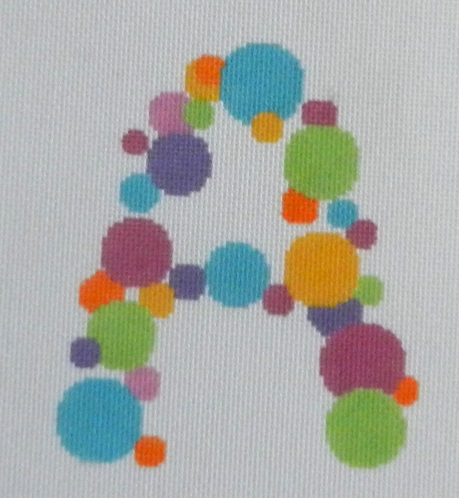 Needlepoint Bubble Letter-A