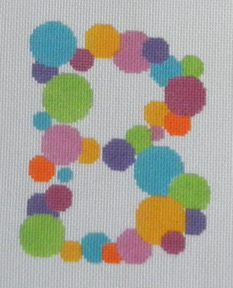 Needlepoint Bubble Letter-B