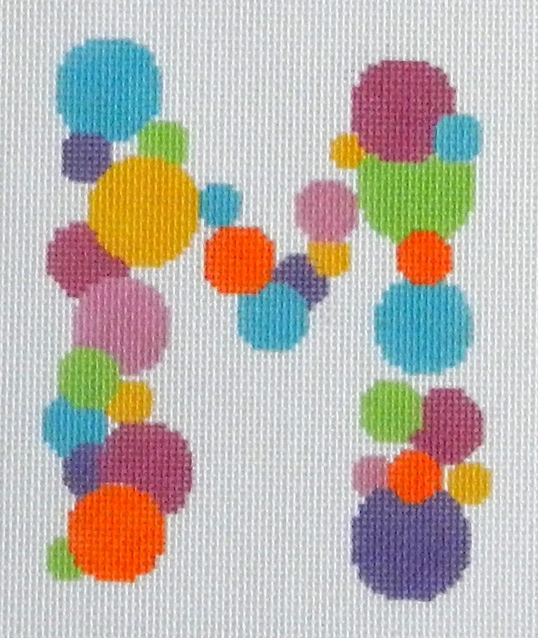 Needlepoint Bubble Letter-M