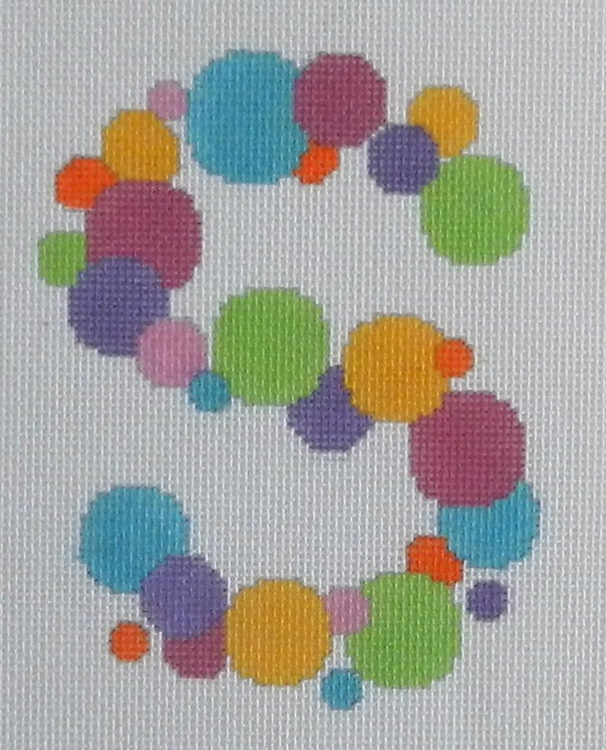 Needlepoint Bubble Letter-S