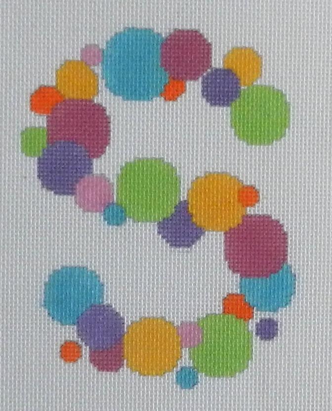 Needlepoint Bubble Letter-S