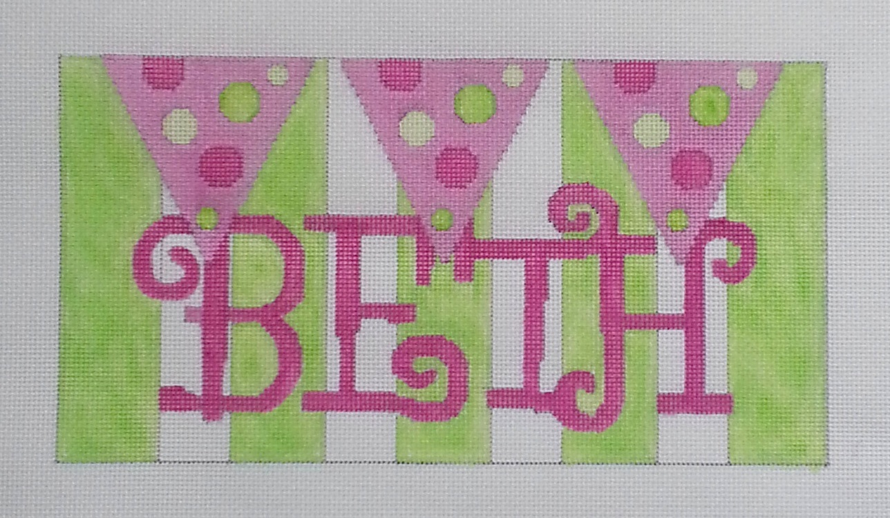 New needlepoint Name