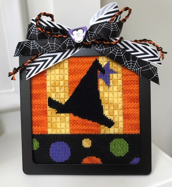 Halloween Needlepoint Hat Stand Frame