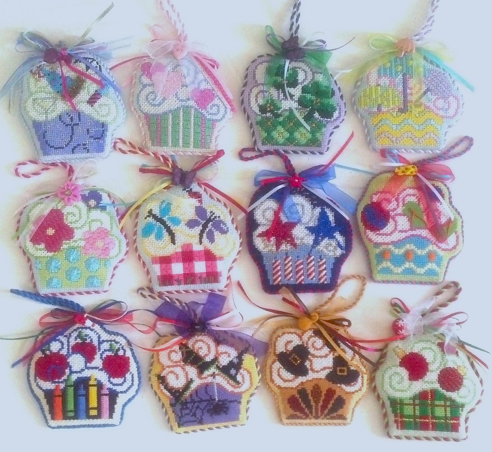 Needlepoint Cupcakes