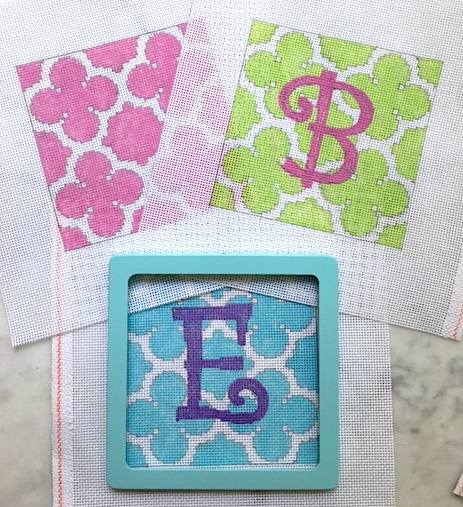 Quatrefoil Square Needlepoint