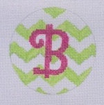 lime pin chevron round