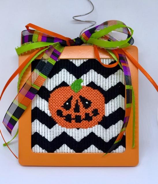 pumpkin chevron needlepointjpg